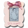 Its A Girl Scallop Rose Picture Frame