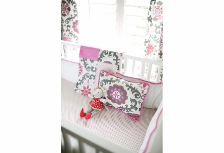 Itsy Bitsy Dots in Bloom Crib Sheet