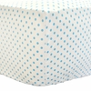 Itsy Bitsy Dots in Lagoon Crib Sheet