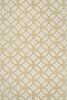 Ivory and Camel Lattice Geo Rug