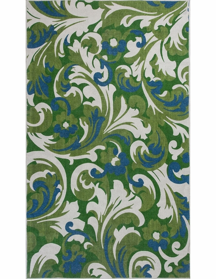 Ivory and Green Palazzo Reversible Rug