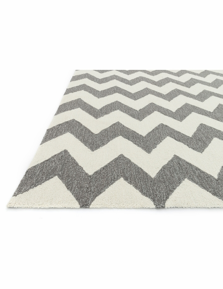 Ivory and Steel Chevron Summerton Rug