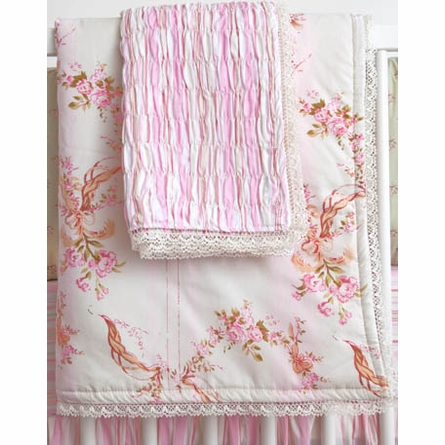 Ivory Cassandra Crib Bedding Set