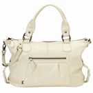 Ivory Leather Slouch Tote Diaper Bag