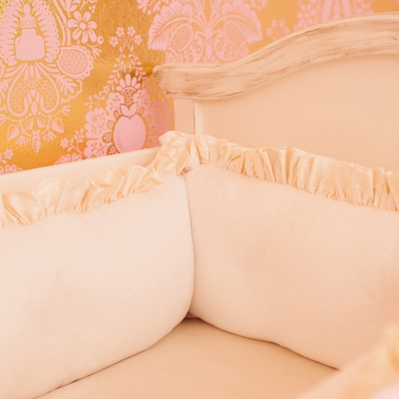 Ivory & Pink Crib Bedding Set