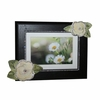 Ivory Roses with Bling Dark Picture Frame
