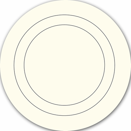 Ivory White Baby Concentric Dot Wall Decals