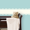 Ivory White Baby Scalloped Stripe Wall Decal