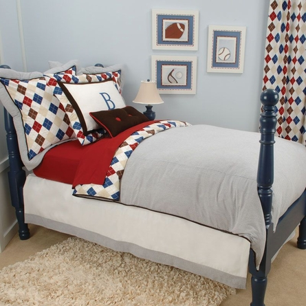 Ivy League Blue Bed Skirt