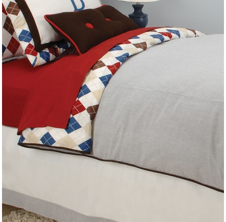 Ivy League Blue Kids Bedding Collection