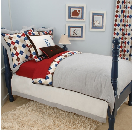 Prep School Blue Kids Bedding Collection