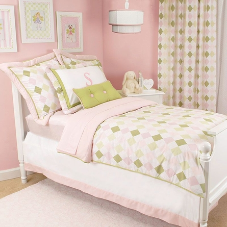 Prep School Pink Bed Skirt