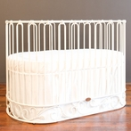 J'Adore Convertible Crib-Cradle Distressed White