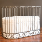 J'Adore Convertible Crib-Cradle Pewter