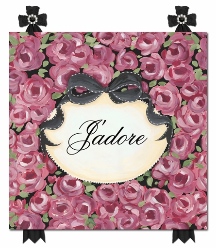 J'Adore Fleurs Canvas Reproduction