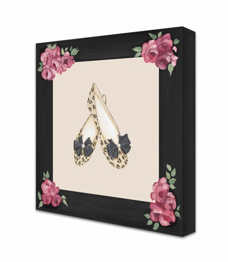 J'Adore Fleurs Shoes Canvas Reproduction