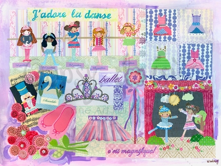 J'adore La Danse Canvas Wall Art