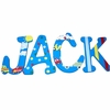 Jack Cars and Trucks Hand Painted Wall Letters