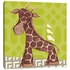 Jackson Giraffe in Green Canvas Reproduction