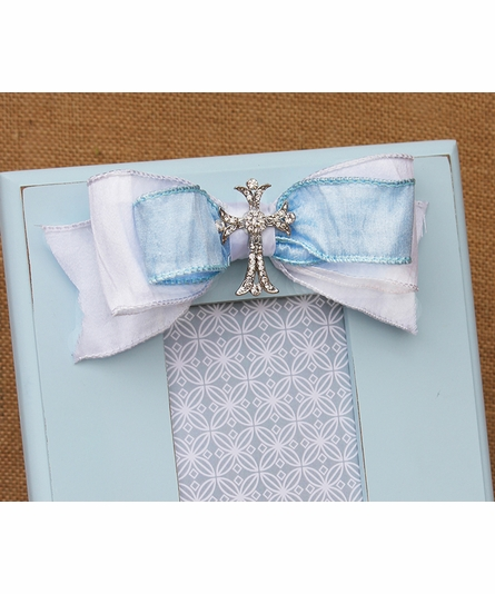 Jacob Blue Scalloped Picture Frame
