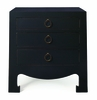 Jacqui 3-Drawer Side Table - Black