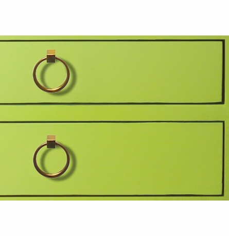 Jacqui 3-Drawer Side Table - Green