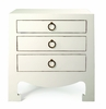 Jacqui 3-Drawer Side Table - White
