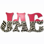 Jae Zebra Print Hand Painted Wall Letters