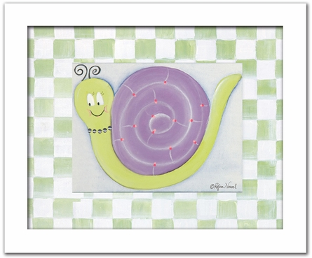 Jasmine Snail Personalized Framed Canvas Reproduction