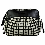 Jazz Diaper Bag in Heavenly Dots Black and Cream