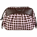 Jazz Diaper Bag in Heavenly Dots Pink and Chocolate