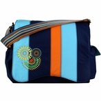 Jazz Diaper Bag in Magical Circle Blue Blocks