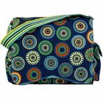Jazz Diaper Bag in Magical Circles Blue