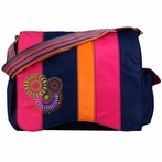 Jazz Diaper Bag in Magical Circles Pink Blocks