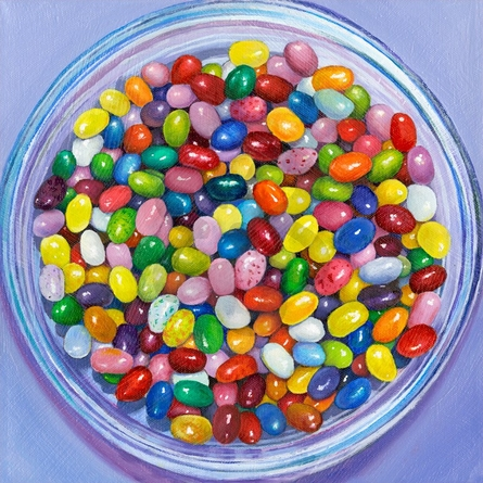 Jelly Bean Bowl Canvas Wall Art