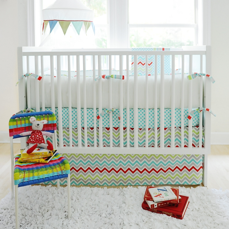 Jelly Bean Parade Crib Bedding Set By New Arrivals Inc