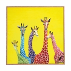Jellybean Giraffes Framed Wall Art