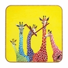 Jellybean Giraffes Square Wall Clock