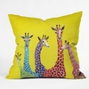 Jellybean Giraffes Throw Pillow