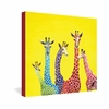 Jellybean Giraffes Wrapped Canvas Art