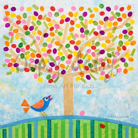 Jellybean Tree Canvas Wall Art