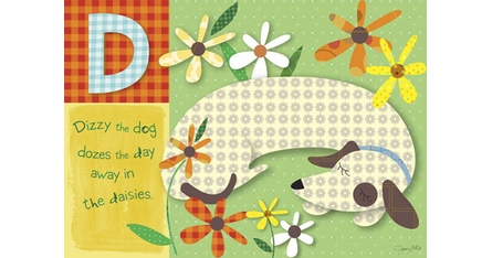 Jessica Flick Placemats - ABCD Animal Action - Set Of Four