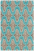 Jessica Swift Intricate Lattice Rug in Aqua