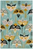 Jessica Swift Vintage Flowers Rug in Blue