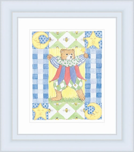 Jester Bear Framed Lithograph