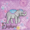 Jewel Elephant Canvas Reproduction