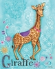 Jewel Giraffe Canvas Reproduction