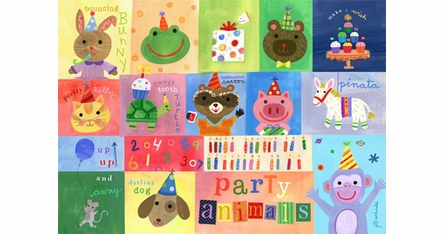 Birthday Theme Placemats - Set Of Four