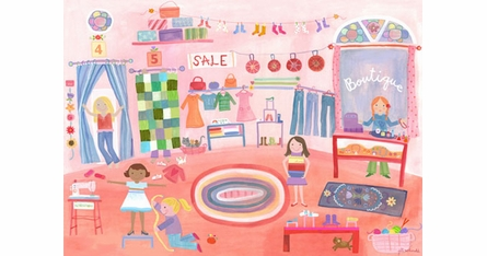 Girls Will Be Girls Placemats- Set Of Four