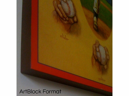 Joe DiMaggio Sliding Art